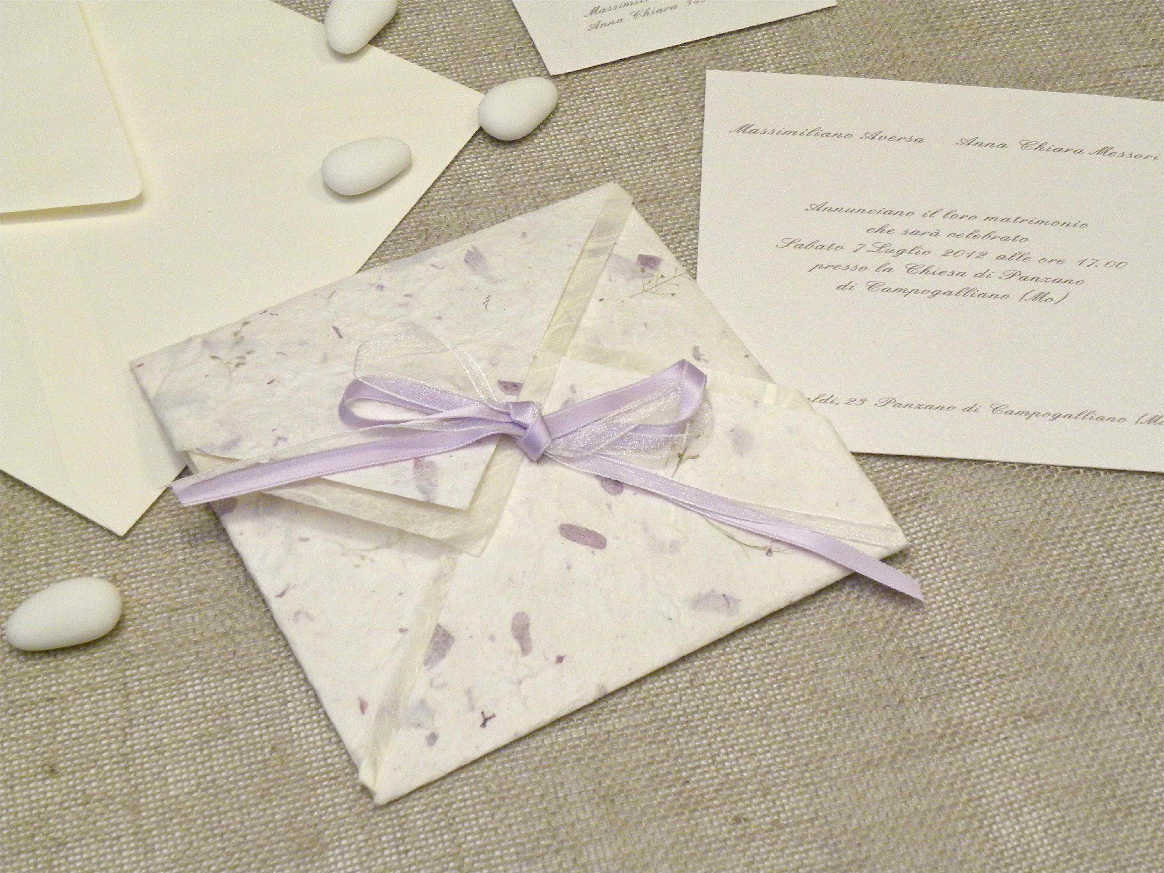 Wedding invitation origami in paper provence lilac - photo#49
