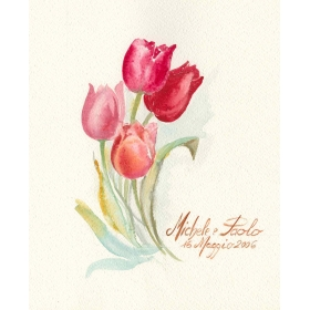 Decoration wedding albums, Callas watercolor
