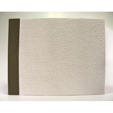 Photo album made with moonrock paper white and back in brown canapetta