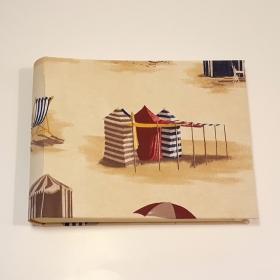 Album porta foto vacanze al mare, con stampa ombrelloni