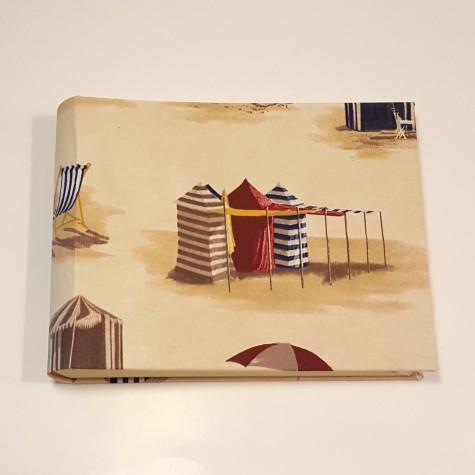 Album photo frame beach holidays, with umbrellas Press