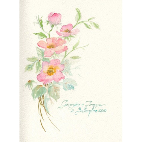 Decoration wedding albums, Rose watercolor