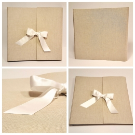 Canvas Canapetta ivory and ivory satin ribbon