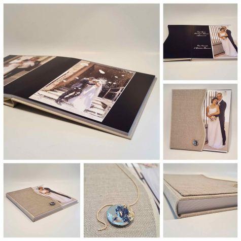 Customizable wedding photo book