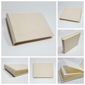 Photo album covered with canvas ivory canapetta