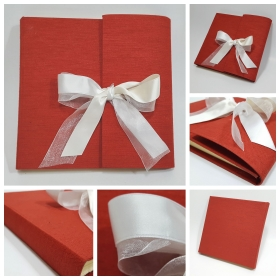 Photo album coated of canvas Red