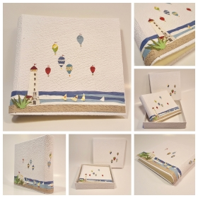 Photo Album the Lighthouse decoupage