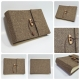 Photo Albums brown herringbone wool fabric with leather cord lock