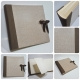 Photo album made whit natural canvas and Canapetta Brown