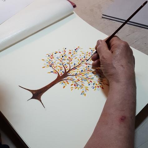Decoro acquerello personalizzato